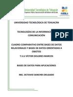UNIVERSIDAD TECNOLÓGICA DE TEHUACÁN DIFERENCIAS ENTRE SGBOO Y SGBR