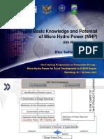 2.b. Micro Hydro Basic Knowledge and Potential - Site Reconnaisance - Ifnu Setiadi