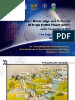 2.a. Micro Hydro Basic Knowledge and Potential - Basic Knowledge of MHP - Ifnu Setyadi & Iman Permana