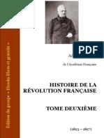 Thiers, Adolphe - Histoire de la Révolution française II