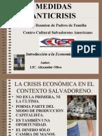 Medidas Para la Crisis Economica en el Campo Educativo.