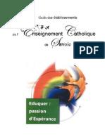 Guide des Ecoles de l'Enseignement Catholique en Savoie