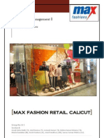 TERM II_Operations Management_Max Fashion Retail