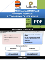 Termiii_hrm_performance Management and Appraisal Methods_a Comparision of Iocl and Ril