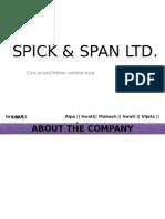 PPBM Spick and Span Ltd
