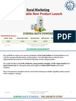 TERMIV_Rural Marketing_Non-Durable New Product Launch_Subhra Bath Powder_Gr9
