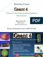 Refresher Geant4
