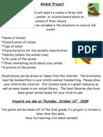 Animal Brochure Project Info Sheet.doc