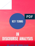 Key Terms in Discourse Analysis