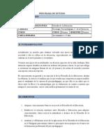 PROGRAMA DE ESTUDIO.filosofía y pedagogía