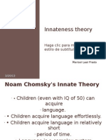 Innateness Theory Presentation