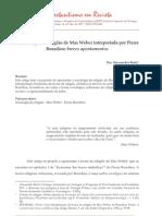 ARTIGO - BARTZ, ALESSANDOR - A Sociologia Da ReligiAo de Max Weber Interpretada Por Pierre