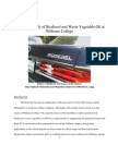 Feasibility Biodiesel and Waste Vegetable Oil