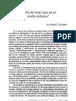 """Acerca de estar sano en un medio enfermo en Watzlawick, P. """"La realidad inventada"""". Gedisa. Barcelona. 1988"""