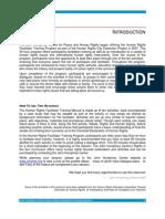 Human Rights facilitation Manual