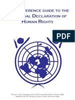 Easy Reference Guide to the Universal Declaration of Human Rights.
