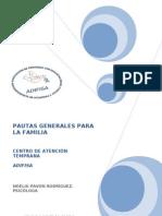 PAUTAS GENERALES PARA LA FAMILIA (Cognitiva, Lenguaje, Motricidad, Social)