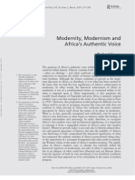 Araeen Modernity, Modernism and Africa's Authentic Voice