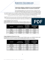 Sen. Gillibrand NYS Minimum Wage Report