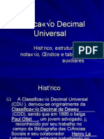 Classificacao Decimal Universal.ppt