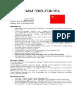 Syarat Pembuatan Visa China