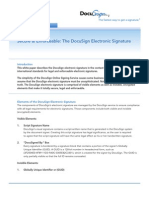 Secure and Enforceable - The DocuSign Electronic Signature