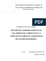 Adhesivos en Materiales Compuestos