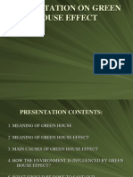 Green House Effect Presentation
