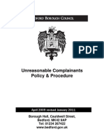 Unreasonable Complainants Procedure v24!01!11[1]