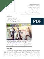 Lessico accessorio di archeologia politica