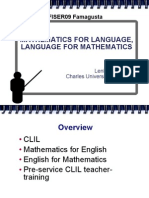 Mathematics for Language - Language for Mathematics