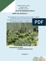 Chacralla 2013 - Perfil Tecnico Agua y Desague