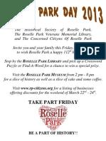 Roselle Park Day 2013 Flier