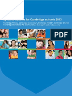 Syllabus Updates for Cambridge Schools 2013
