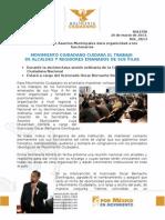 MOVIMIENTO CIUDADANO CUIDARÁ EL TRABAJO DE ALCALDES Y REGIDORES EMANADOS DE SUS FILAS