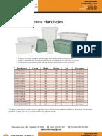 Handholes Polymer Concrete Fiberglass