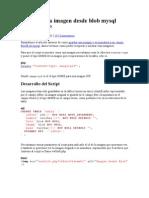 Mostrar Una Imagen Desde Blob Mysql Usando PHP