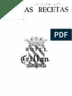 23436690 Famosas Recetas Del Hotel Crillon de Paris