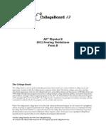 2011 Physics b Form b Scoring Guidelines