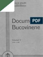 Teodor Balan - Documente Bucovinene 5, 1745-1760