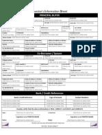 Buyer's Information Sheet