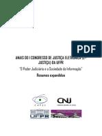 Anais do I Congresso de Justiça Eletrônica ejustiça da UFPR
