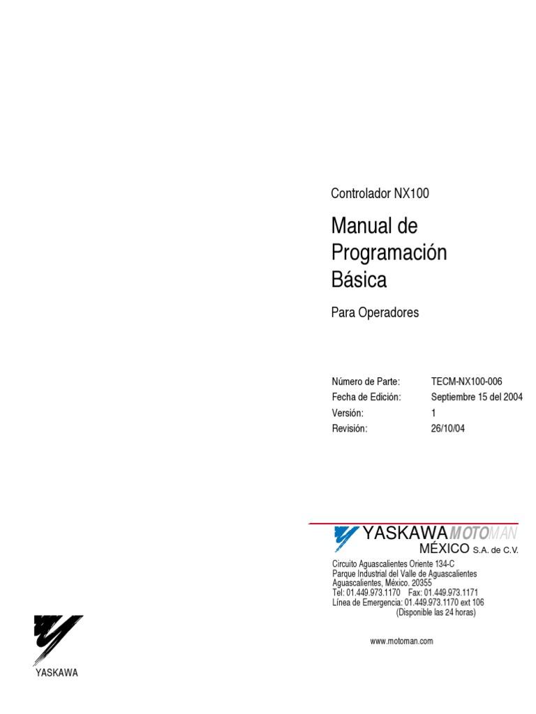 Manual de Programacion Basica Para Operadores Nx100