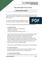 02 Especificaciones en Conexion de Agua Potable