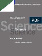 MAK Halliday the Language of Science