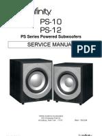 Infinity Ps-10 12 Service manual