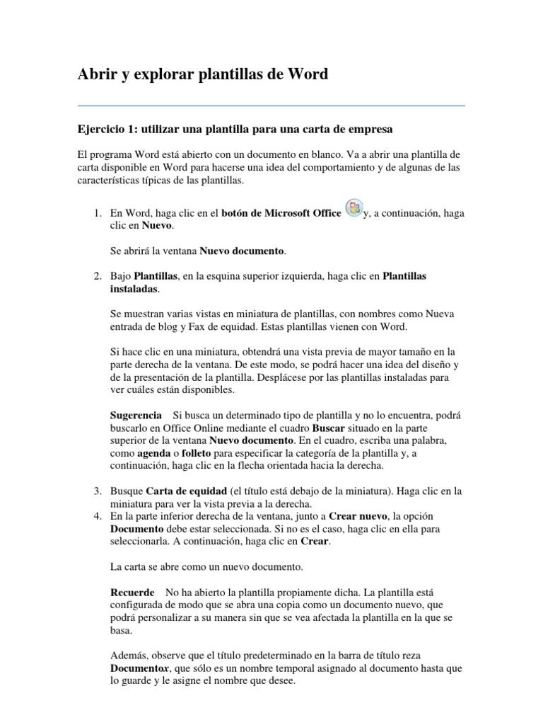 Moderno Plantilla De Programa De Word Foto - Ejemplo De Currículum ...