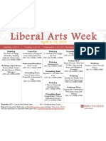 Liberal Arts Week Schedule