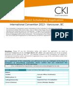 ICON 2013 Scholarship Application