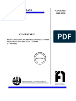 1618-1998 Comentario Estructuras Metalicas Estados, Limites
